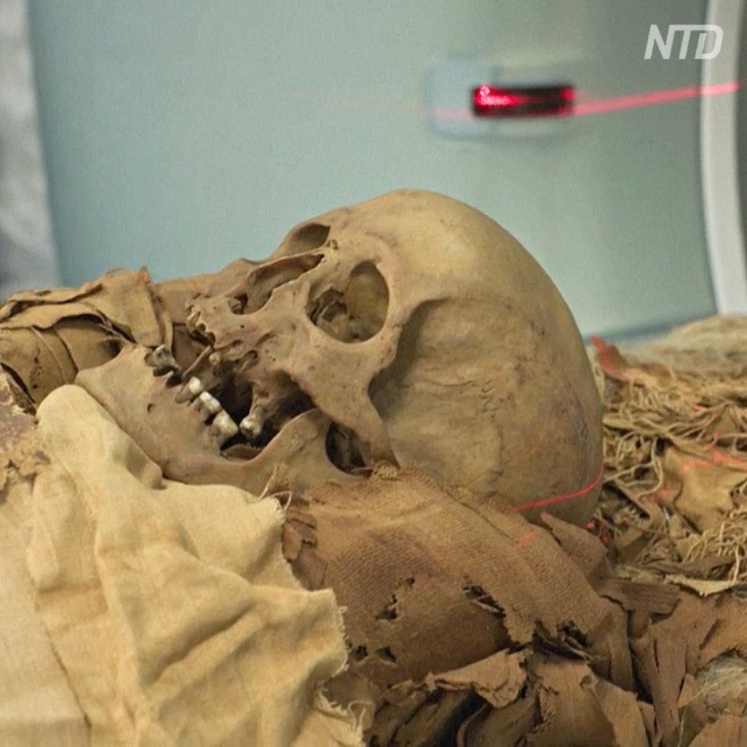 Как мумию просвечивали с помощью компьютерной томографии