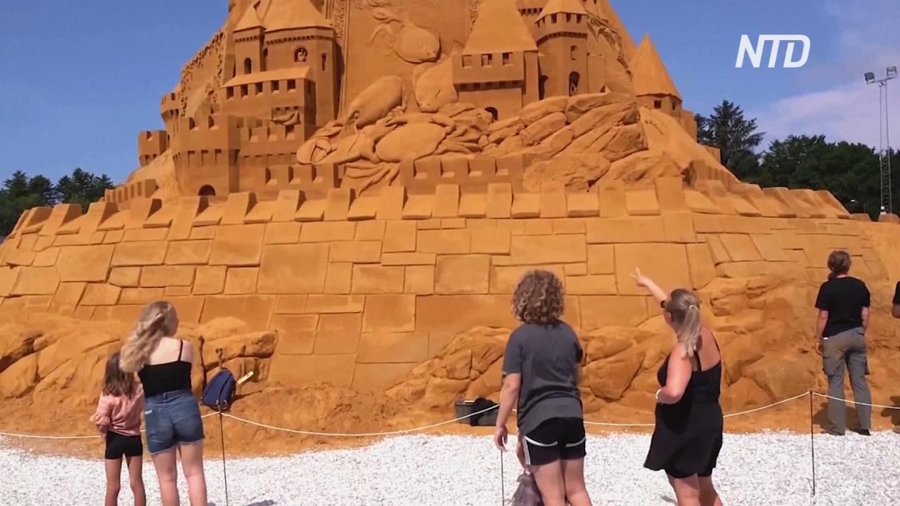 Рекорд Гиннесса: в Дании построили самый высокий в мире замок из песка