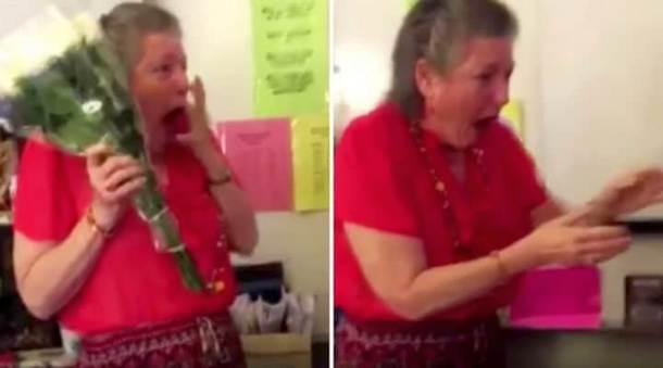 Какой сюрприз приготовили ученицы для плачущей учительницы