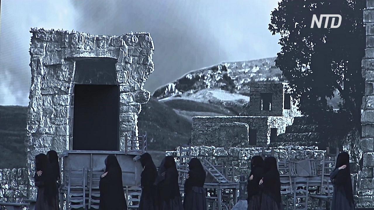 Опера на высокотехнологичном фоне: амфитеатр в Вероне украсили 3D-декорации