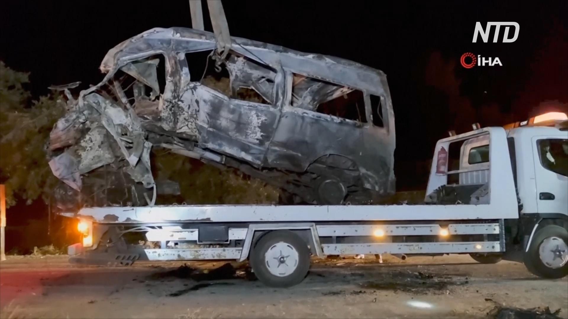 ДТП в Турции: разбился микроавтобус с мигрантами