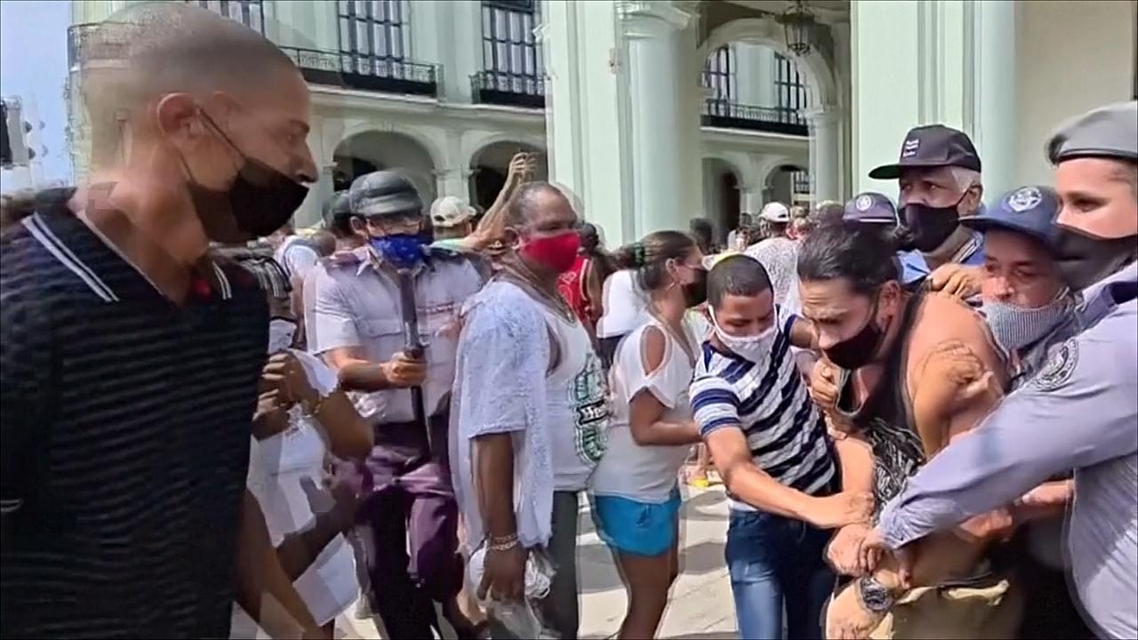 В организации протестов на Кубе власти острова обвинили Соединённые Штаты
