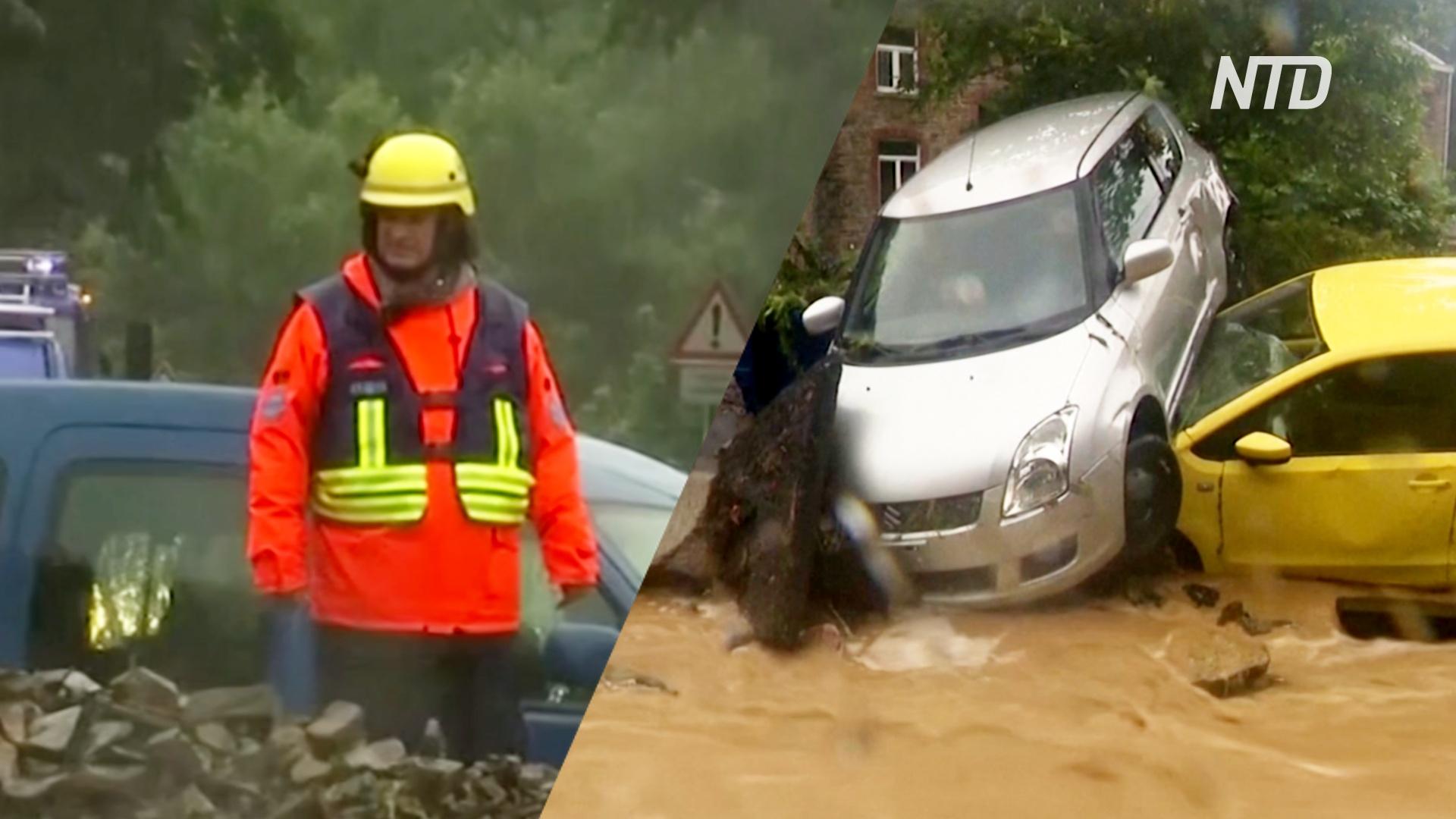 Ливни в Европе смывают машины и топят города