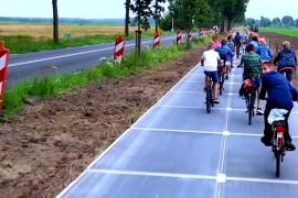 Где открыли самую длинную велодорожку из солнечных панелей