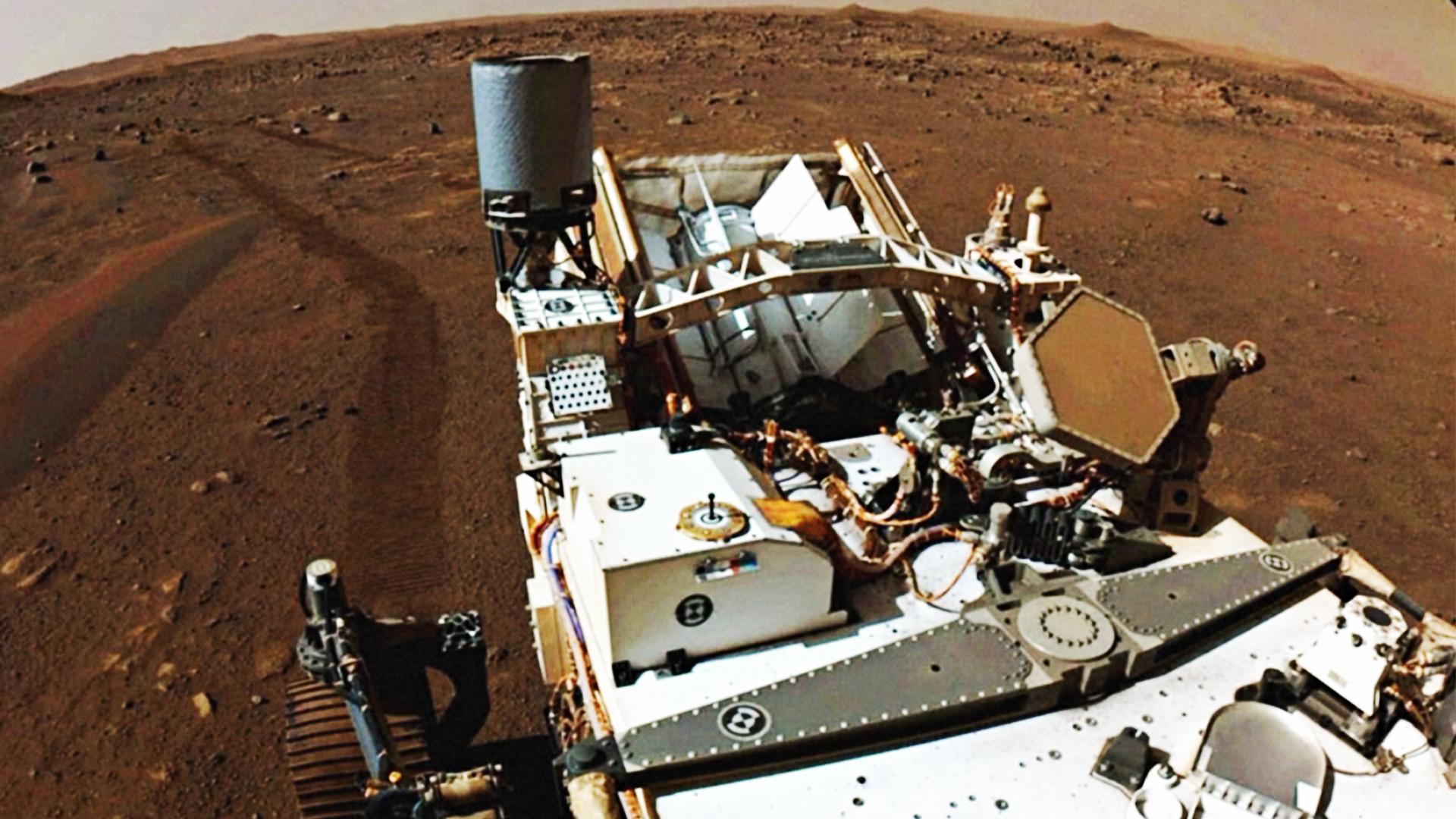«Настойчивость» начала искать следы прошлой жизни на Марсе