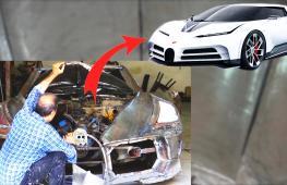 Иранец в одиночку создаёт копию гиперкара Bugatti