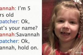 Разговор малышки с диспетчером службы 911 посмотрели 11 млн раз
