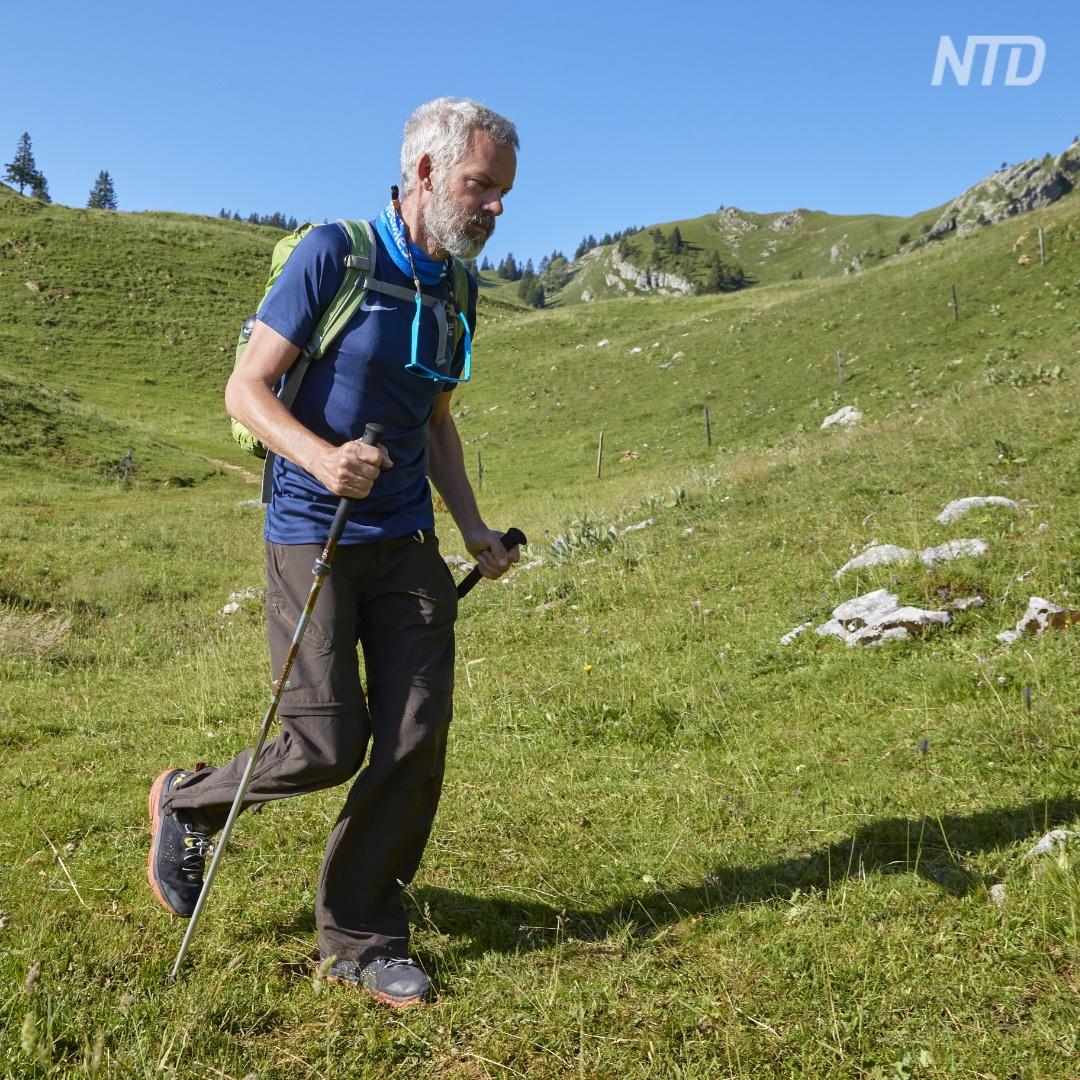 Швейцарец с болезнью Паркинсона покорил Альпы