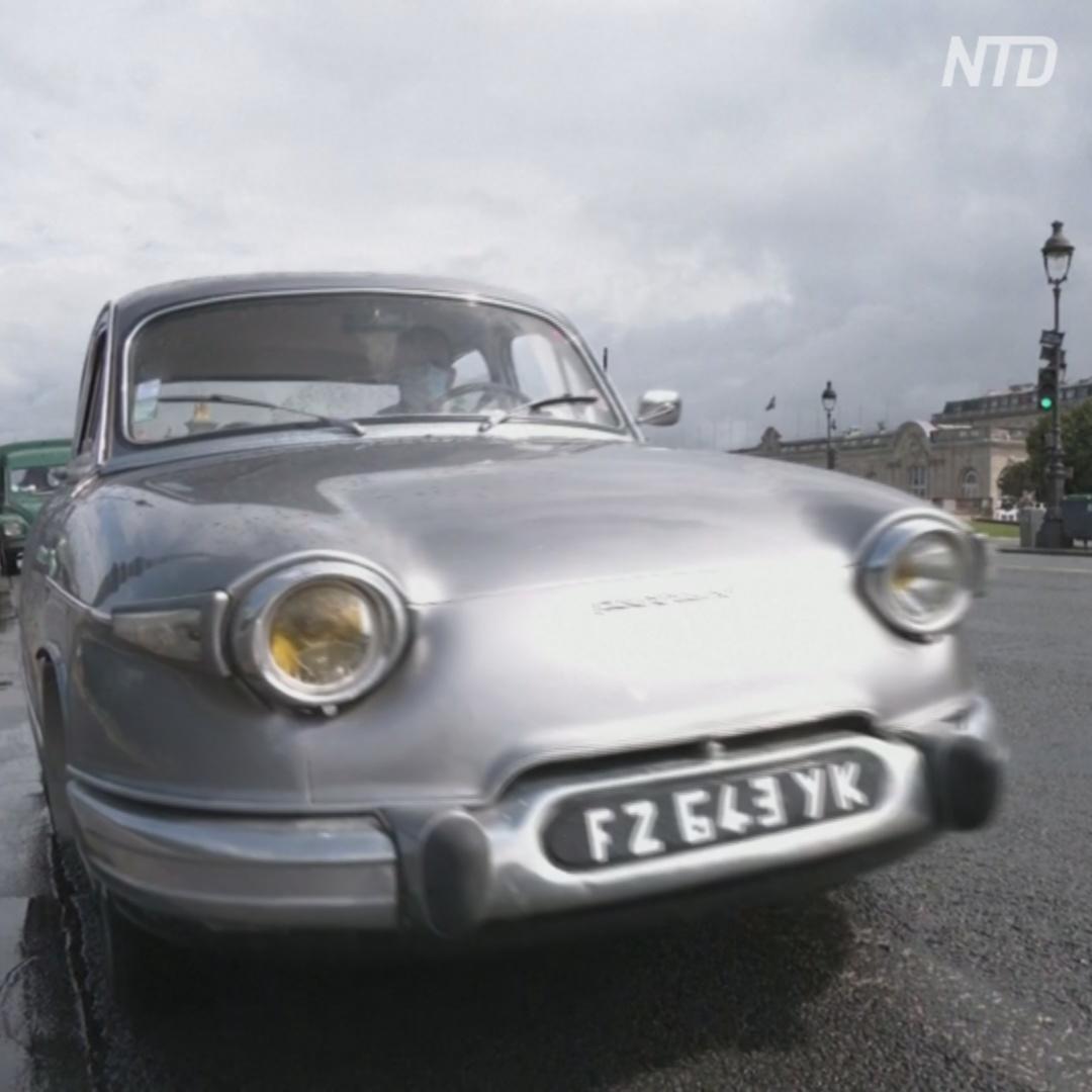 700 ретроавтомобилей проехали по улицам Парижа
