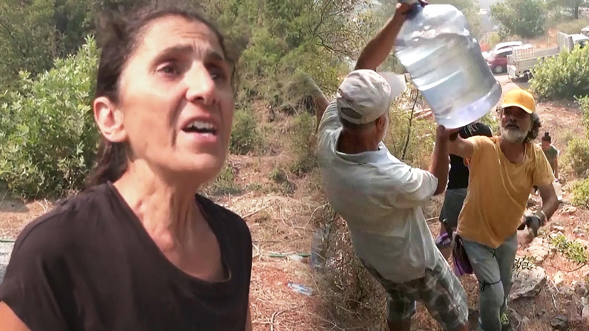 Турки сами выходят тушить свои дома