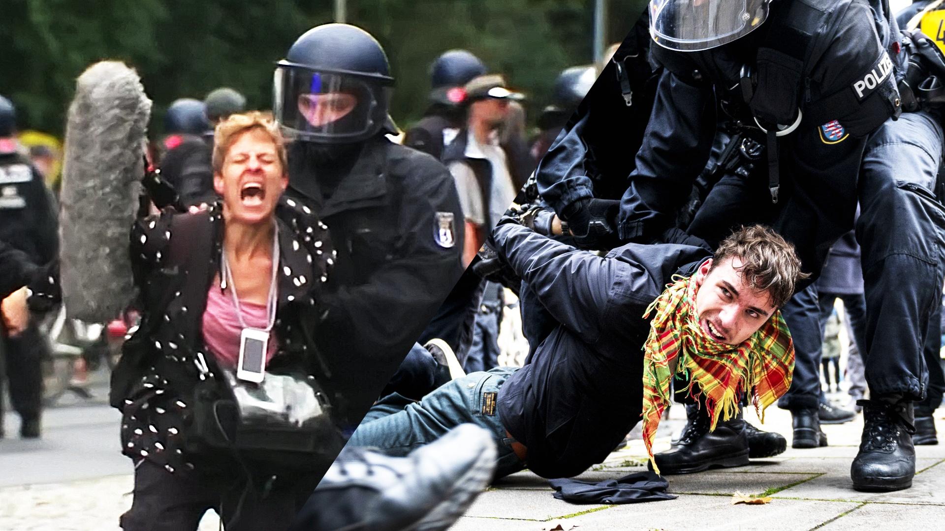 Заламывали руки и волокли силой: в Германии разогнали протесты против «антиковидных» мер