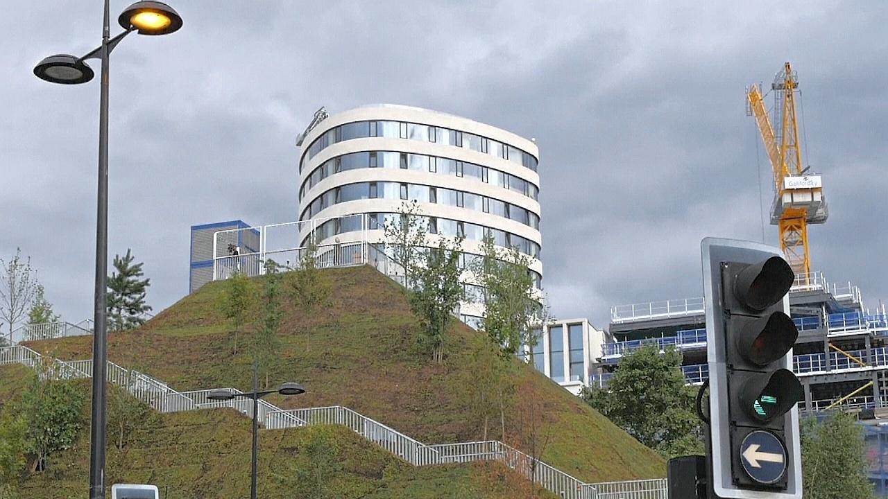 Парковый холм на полгода поставили в центре Лондона