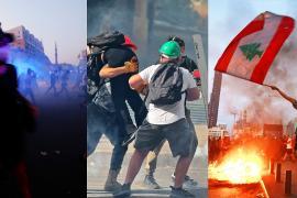 Памятник, протесты и стычки: как отметили годовщину взрыва в Бейруте