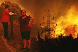 Пожар возле Афин разгорелся с новой силой