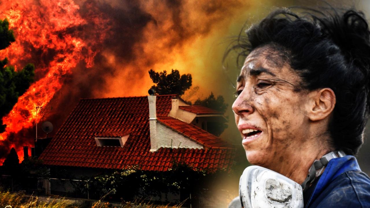 «Как в фильме ужасов»: жители греческого острова Эвбея бегут от пожаров
