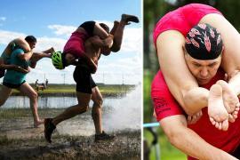 Соревнования по переноске жён устроили в Венгрии