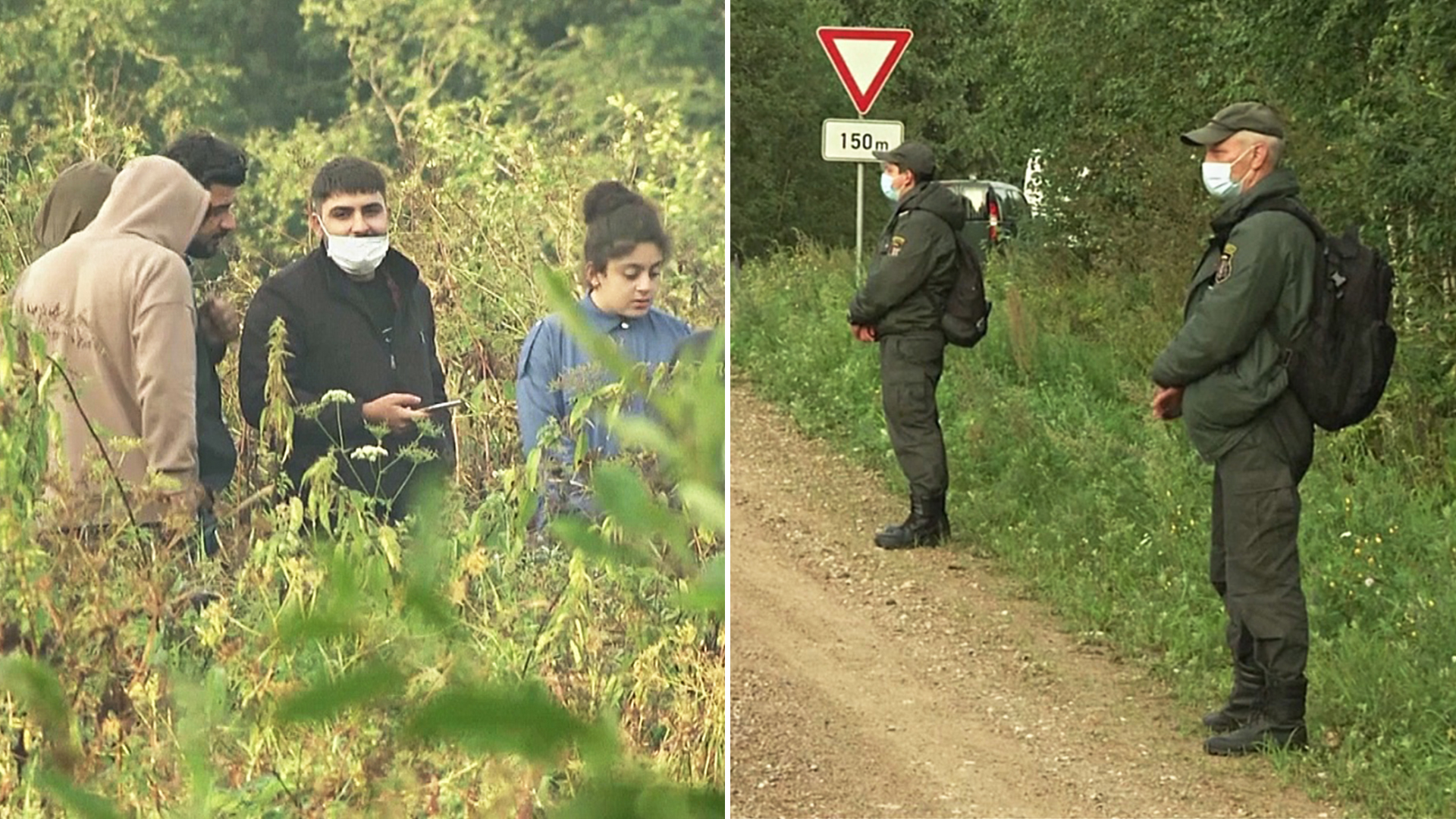 Латвийские пограничники начали возвращать мигрантов обратно на территорию Беларуси