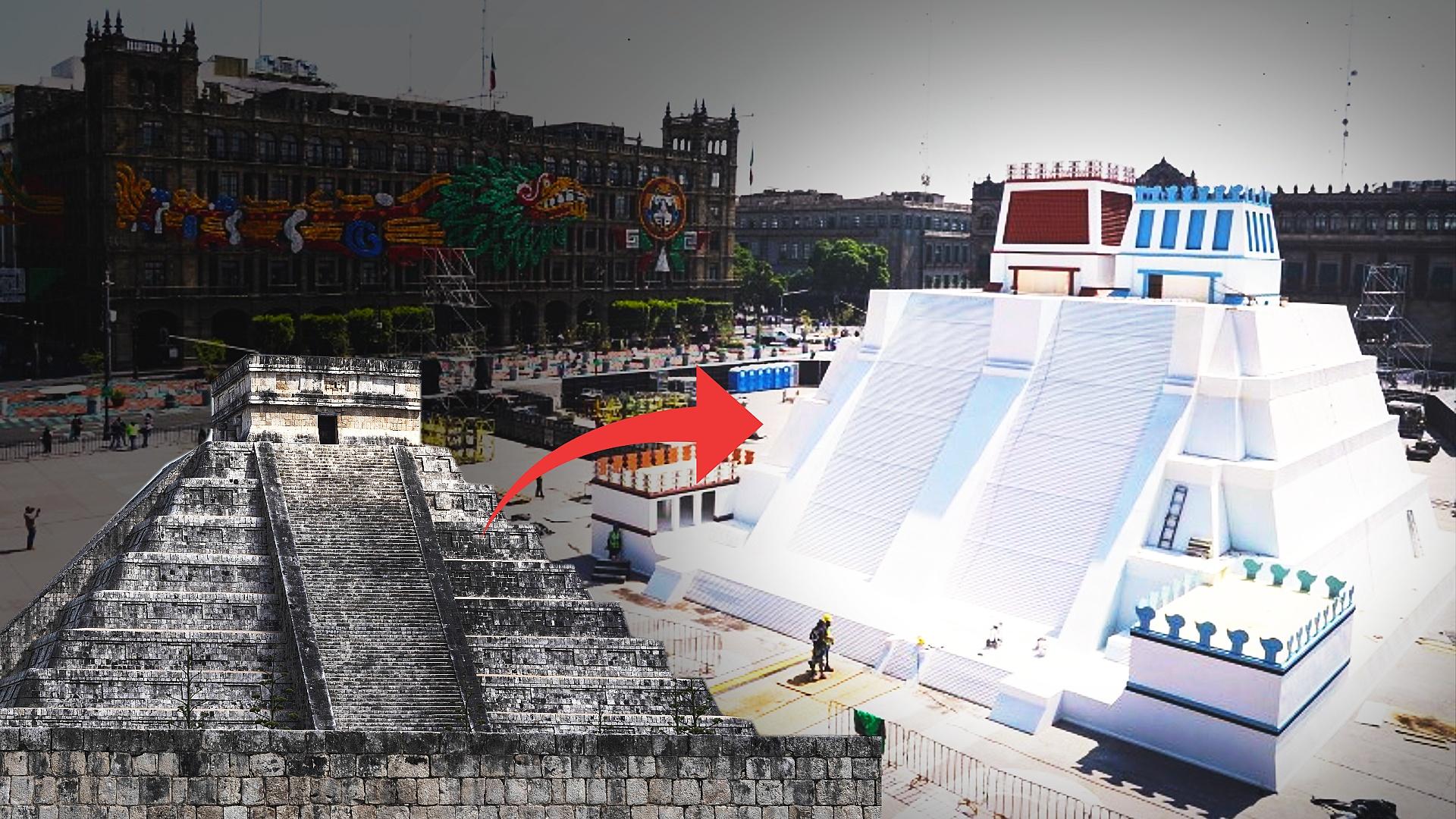 Копия пирамиды «Темпло Майор» выросла в центре Мехико