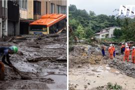 Рекордные осадки в Японии: затопленные дома и оползни