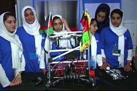 Как женская команда по робототехнике бежала от «Талибана»*