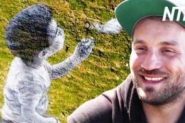 Живопись на траве: гигантская картина на горе в Швейцарии