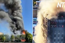 В Милане сгорела жилая многоэтажка
