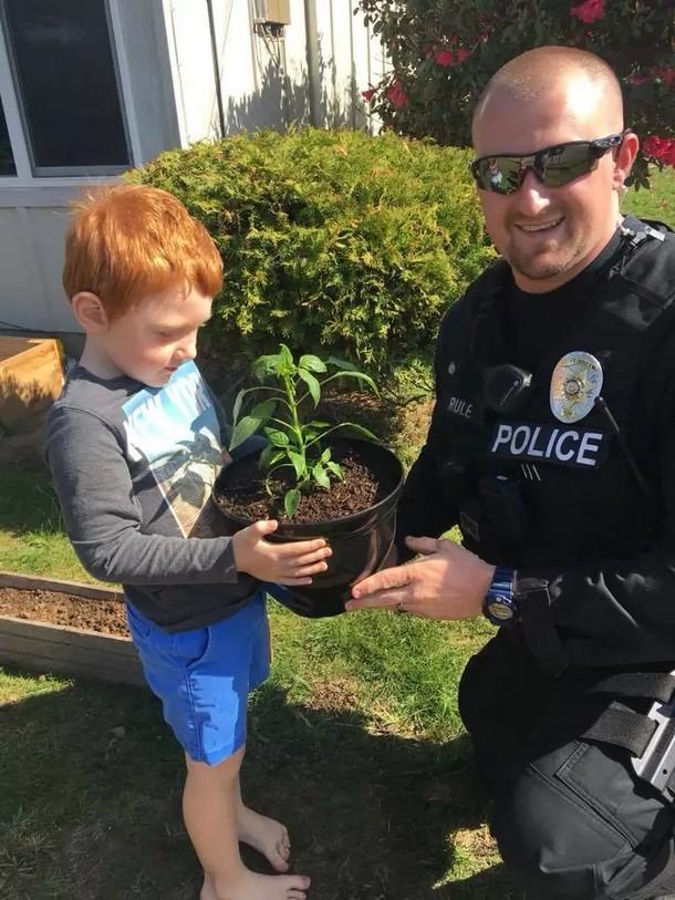 5 - Какой сюрприз получил малыш от полиции