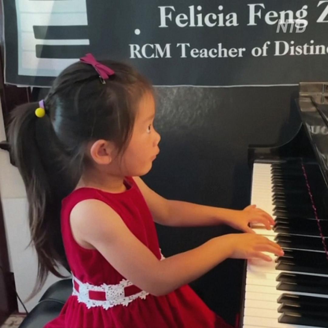 4-летняя пианистка готовится покорить мировые сцены
