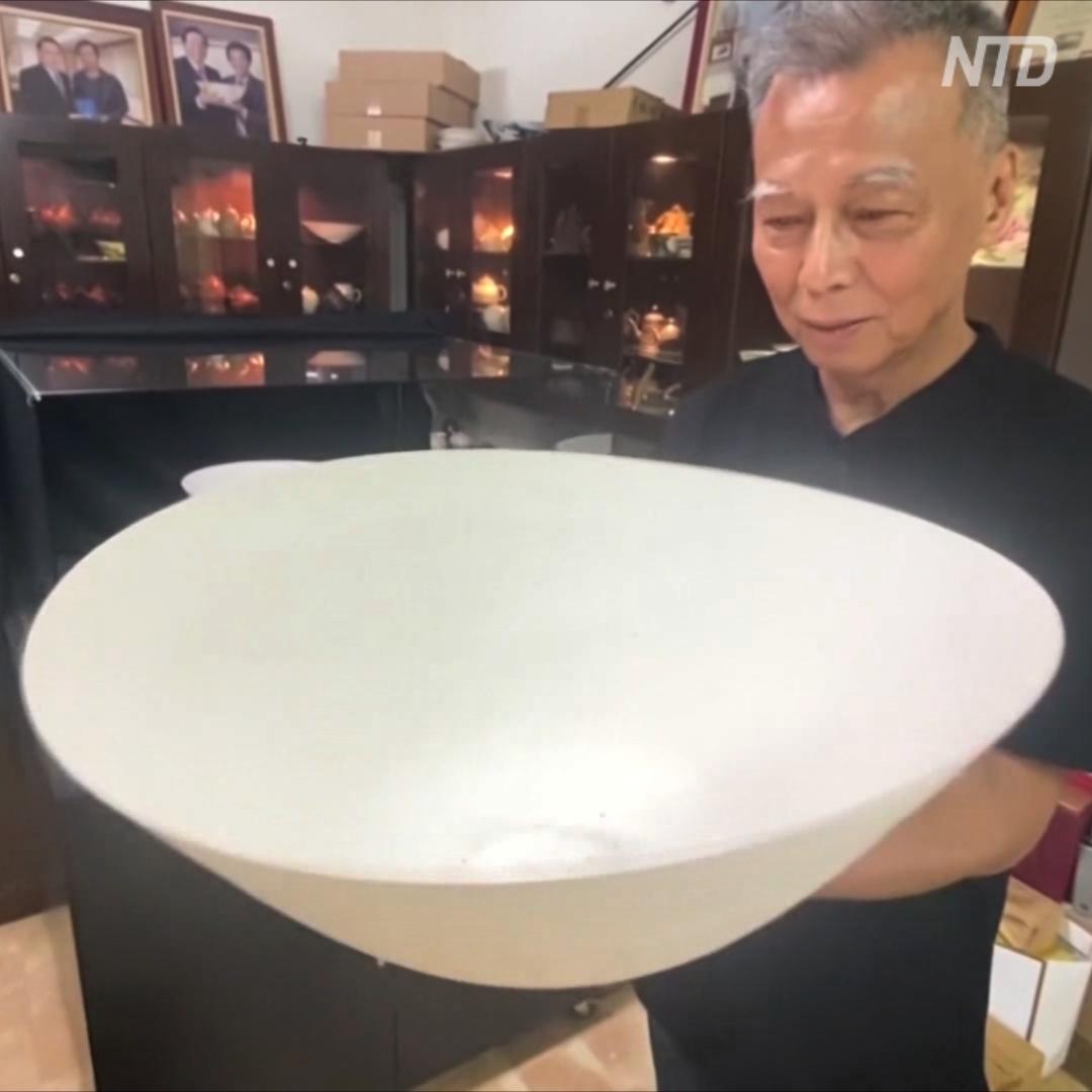 Гончар из Тайваня создаёт самую тонкую в мире посуду