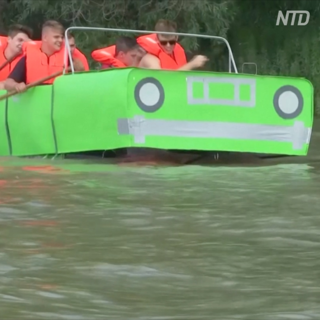 Кто на чём горазд: весёлый заплыв по Дунаю