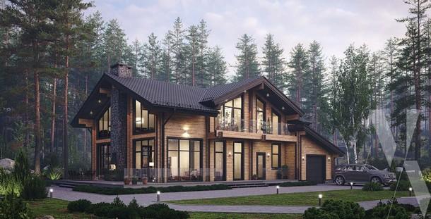 PROEKT DOMA IZ KLEENOGO BRUSA SO VTORYM SVETOM - Без проекта дом не построишь