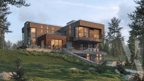 PROEKT DOMA V SOVREMENNOM STILE NA RELEFE 1 - Без проекта дом не построишь