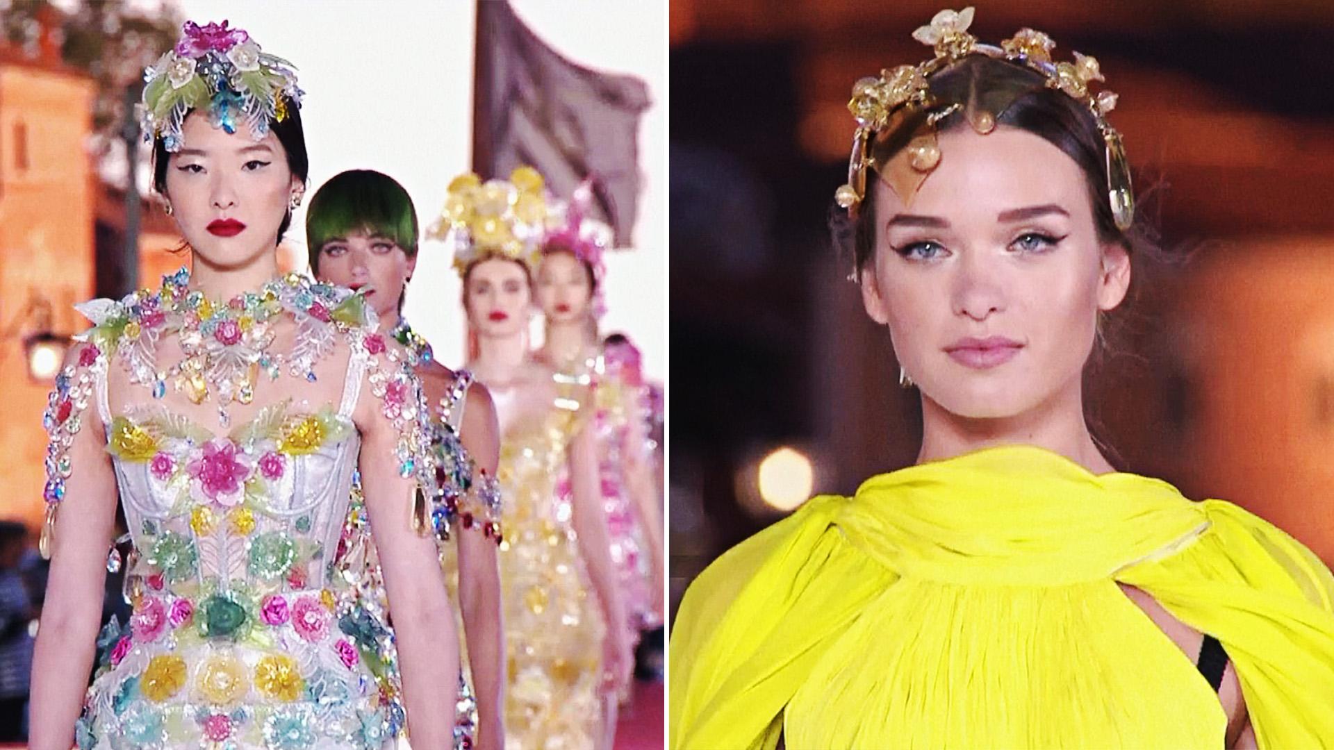 Показ Dolce & Gabbana: блеск, цвета и символы Венеции