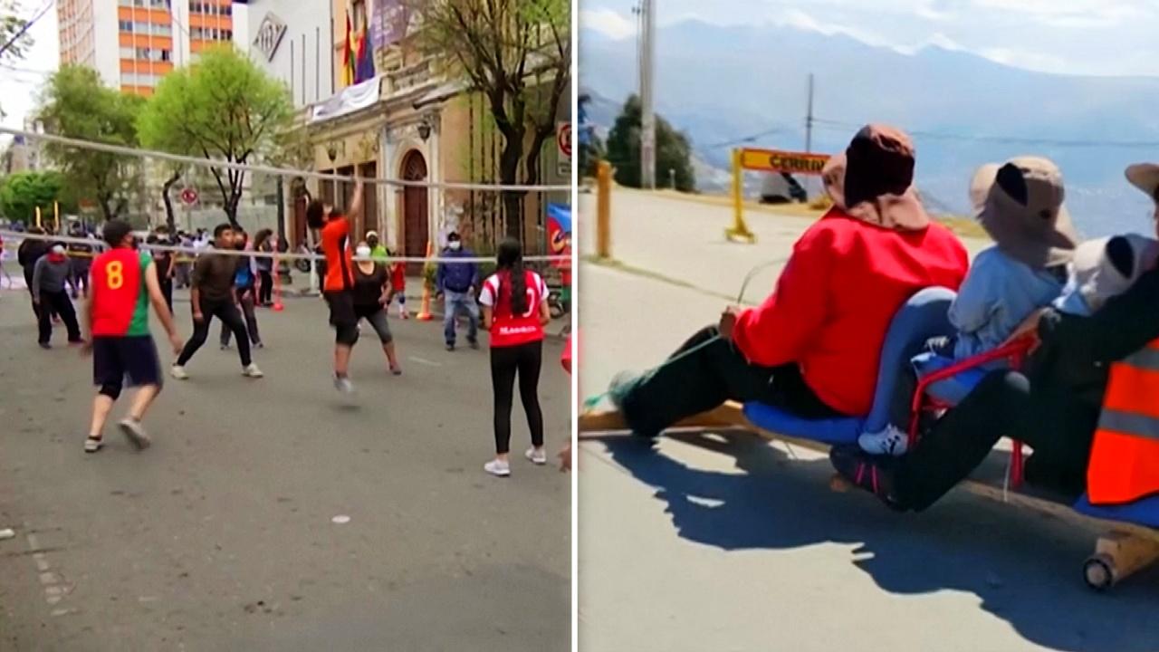 Ла-Пас на один день отдали пешеходам и велосипедистам