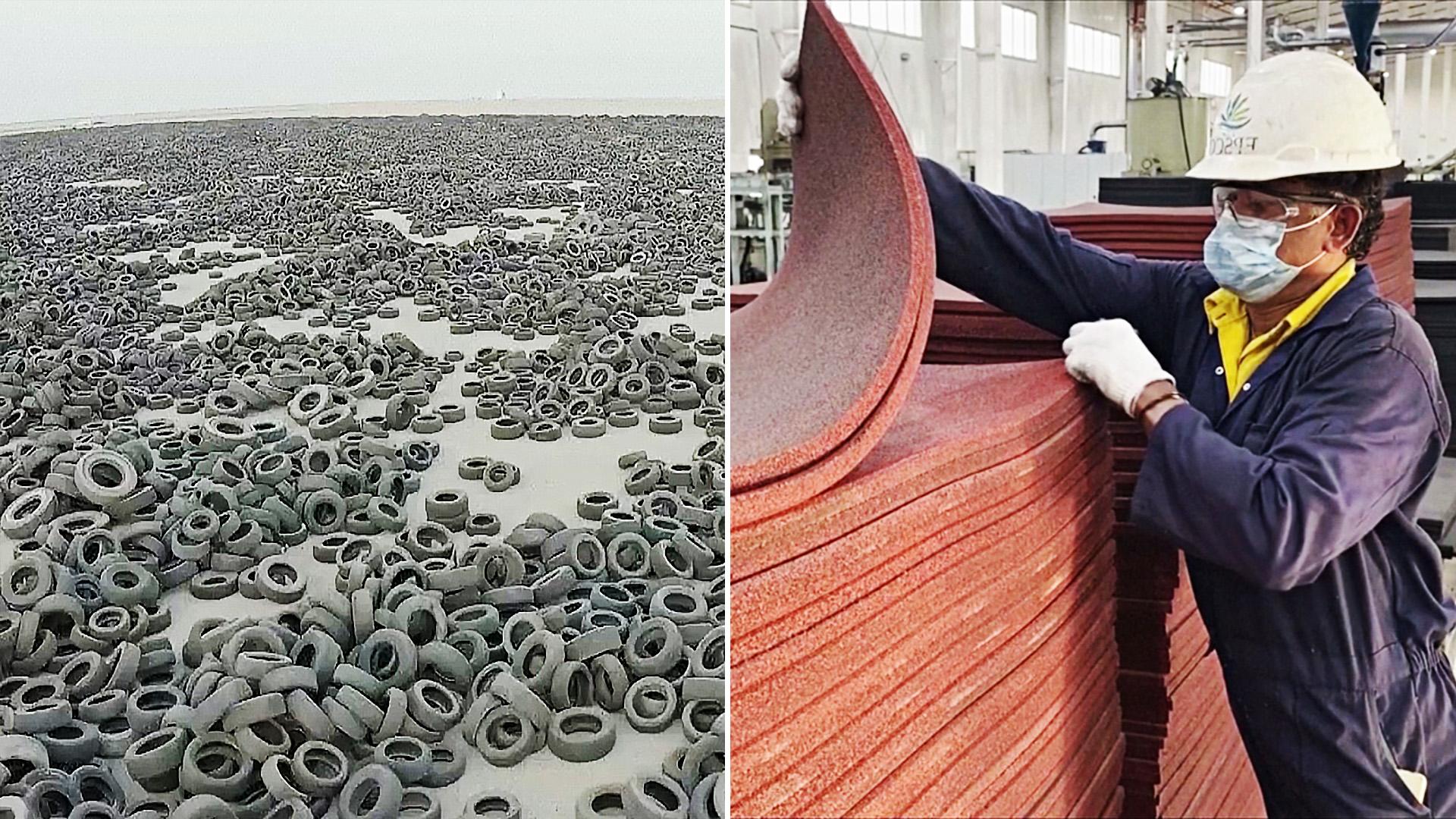 Гигантскую свалку покрышек в Кувейте начали перерабатывать