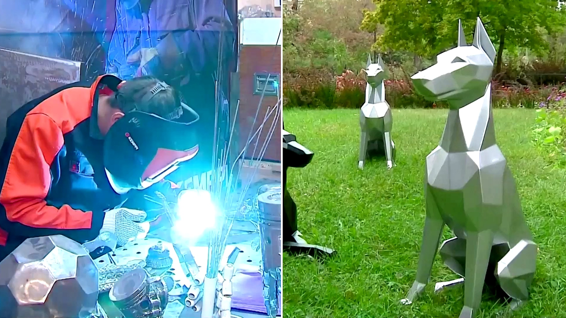 Сварщик из Екатеринбурга зарабатывает на 3D-доберманах