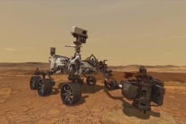 Марсоход НАСА взял первую пробу марсианского камня
