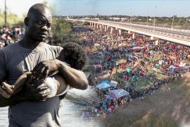 Тысячи гаитян собрались под мостом между США и Мексикой