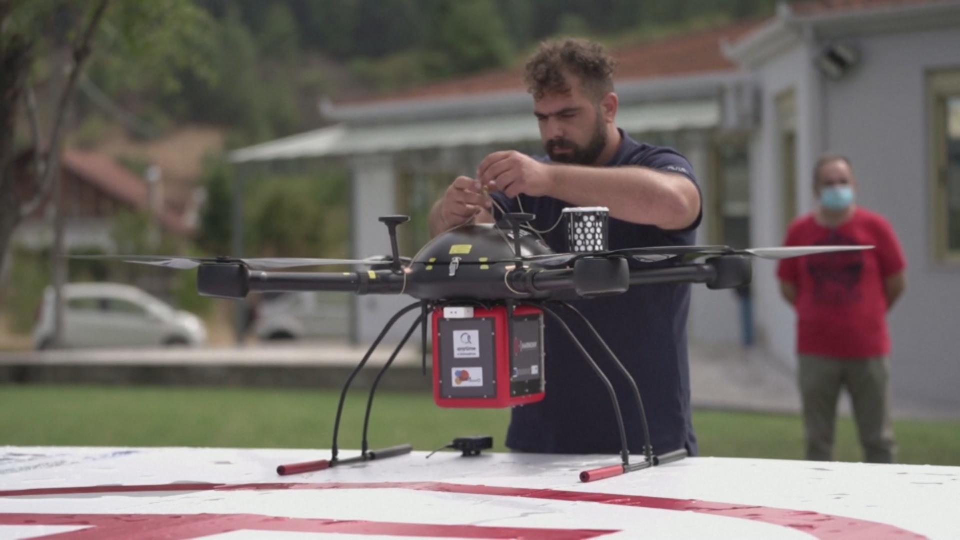 В Греции тестируют дрон для доставки лекарств в отдалённые районы