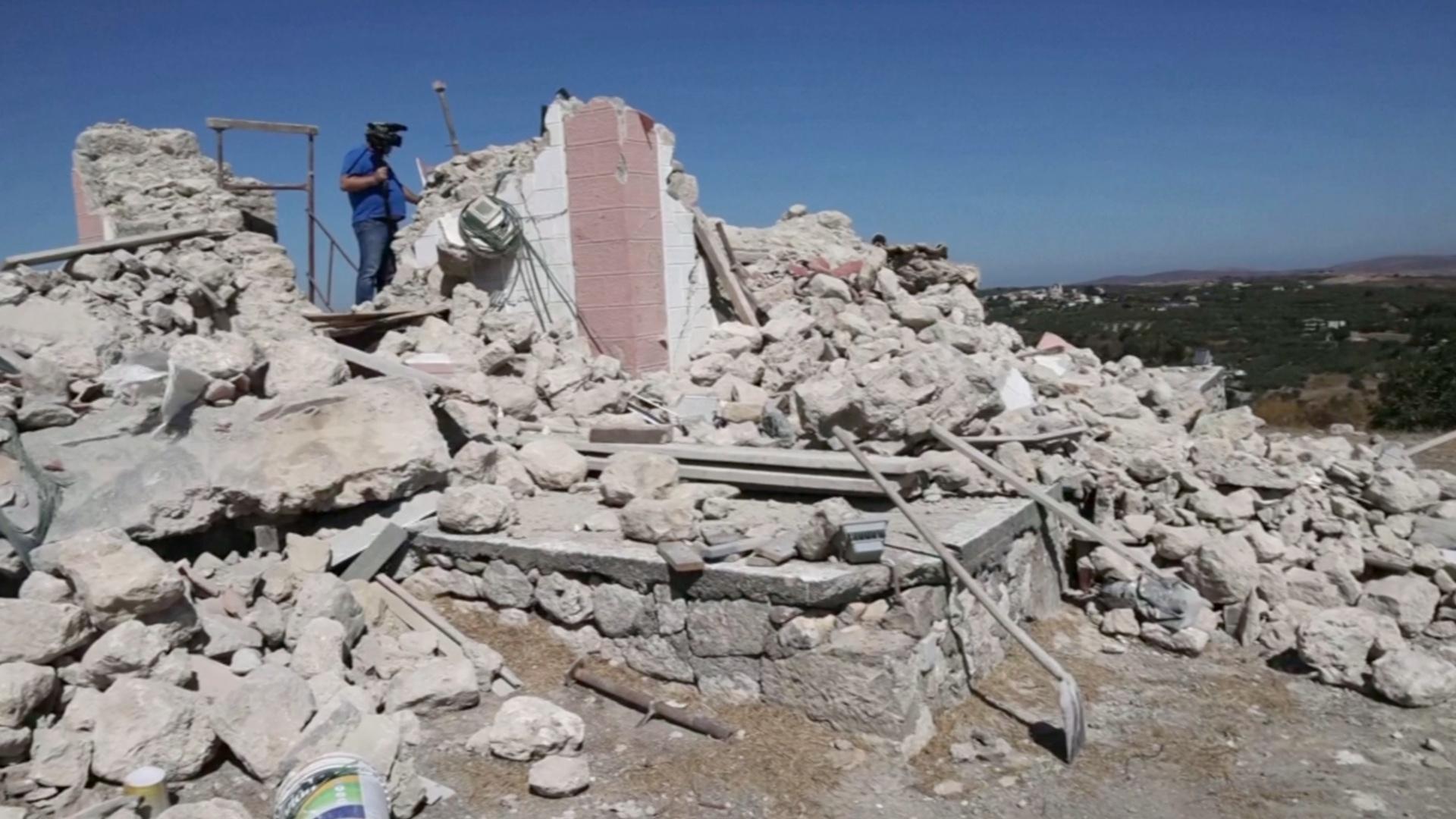 Землетрясение на Крите: погиб мужчина