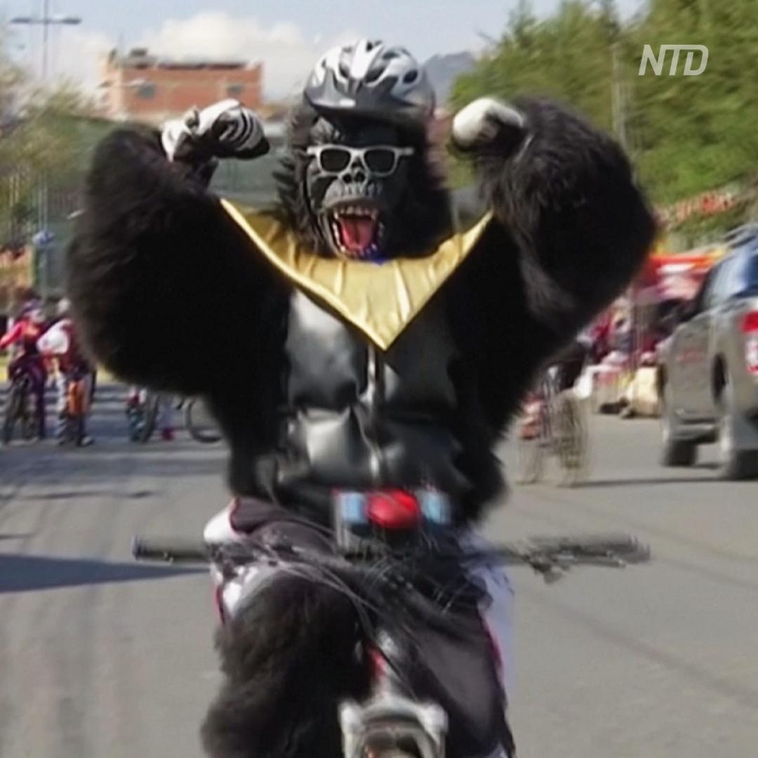 День пешеходов и велосипедистов в Ла-Пасе