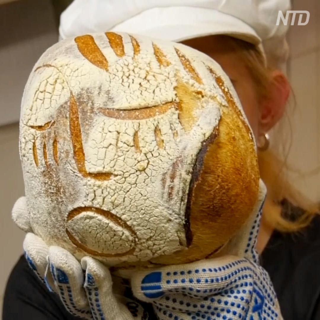 Хлеб с портретами печёт московская актриса
