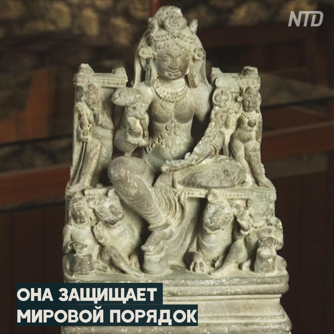 Статуэтку возрастом 1300 лет нашли в индийской реке