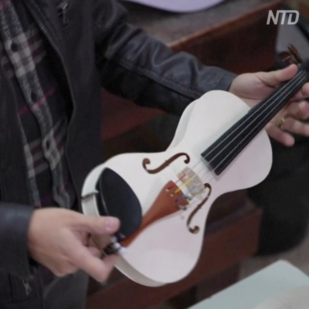 Бюджетные скрипки из пластика делают в Бразилии