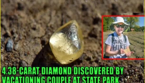 Как супруги нашли алмаз