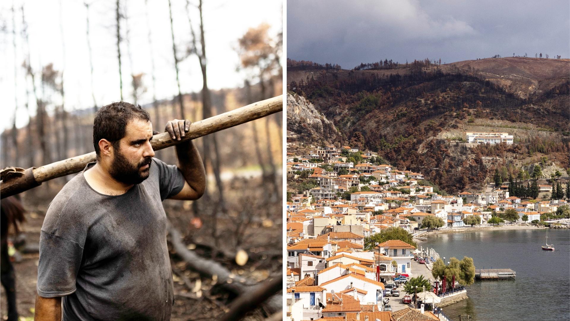 Выжженному пожарами греческому острову теперь угрожают наводнения