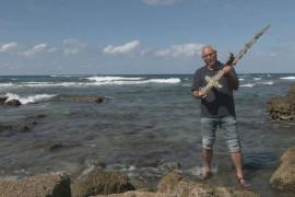 Дайвер нашёл меч крестоносца в Средиземном море