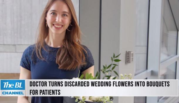 Какое применение свадебным букетам нашла студентка