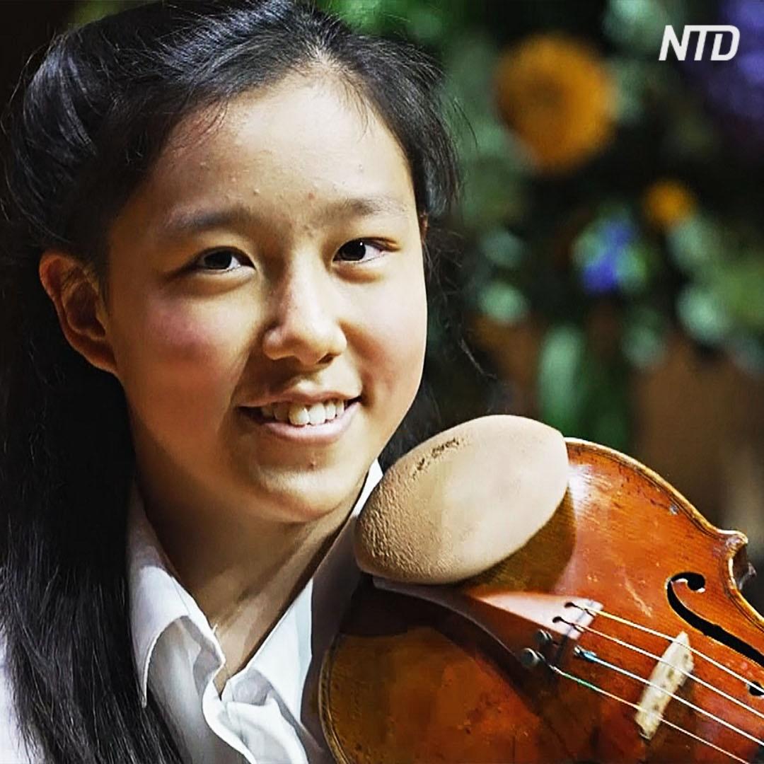14-летний музыкальный вундеркинд поступила в престижный оркестр