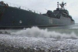 В Севастополе встретили крейсер «Москва»